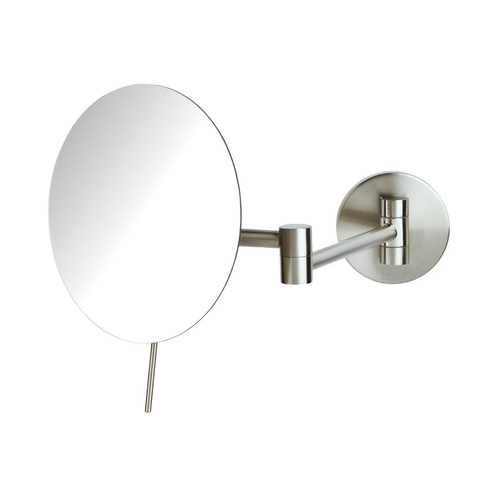 9 in. x10 in. Wall Mirror in Nickel