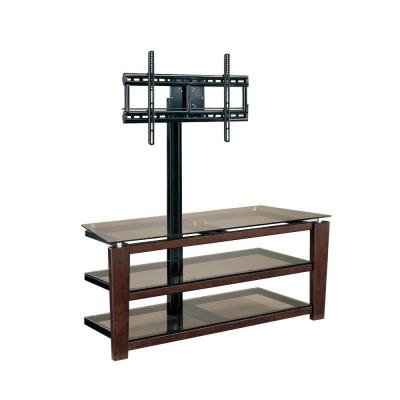 Sydney 52 in. Dark Brown Cherry Composite TV Stand Fits TVs Up to 60 in. with Flat Screen Mount