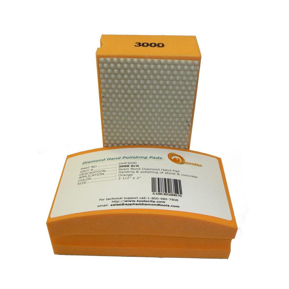 3000-Grit Diamond Hand Polishing Pads Block Type
