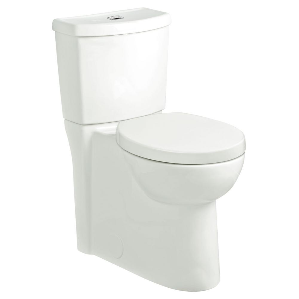 American Standard Studio Dual Flush Tall Height 2-Piece Round-Front Toilet  in White - 1.1/1.6 GPF