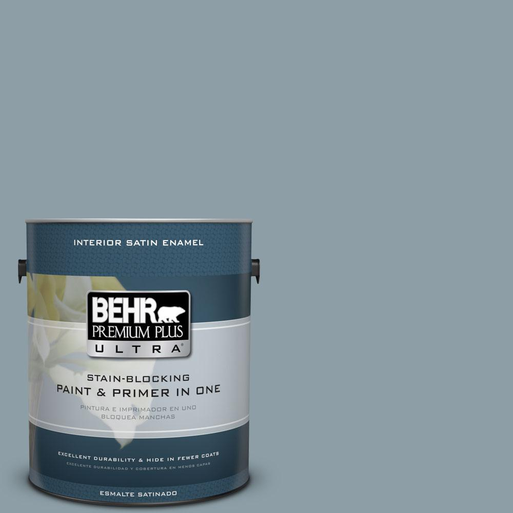 1 gal. #540F-4 Shale Gray Satin Enamel Interior Paint and Primer