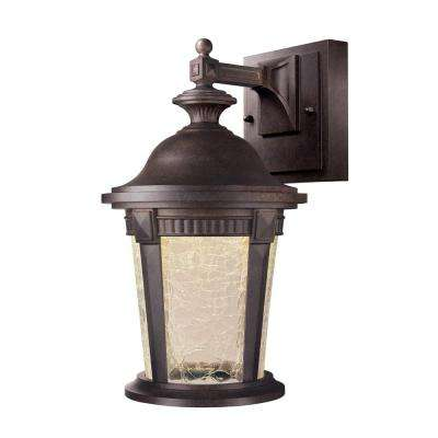 Basilica Collection Mystic Bronze Outdoor LED Wall Lantern