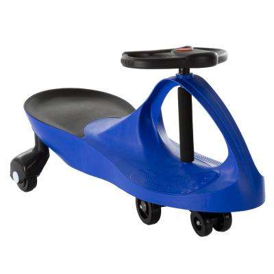 Blue Zigzag Ride on Car No Batteries