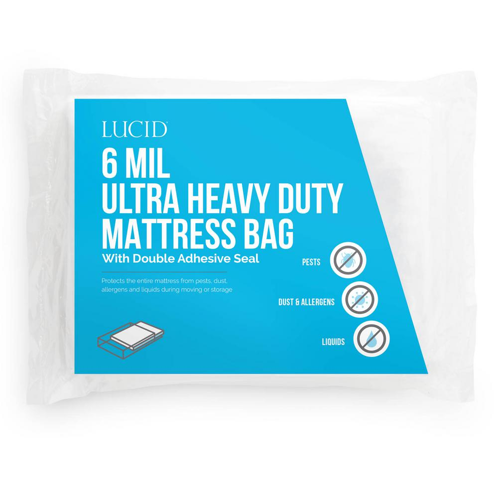 LUCID Queen Ultra Heavy Duty 6 Mil Mattress Bag