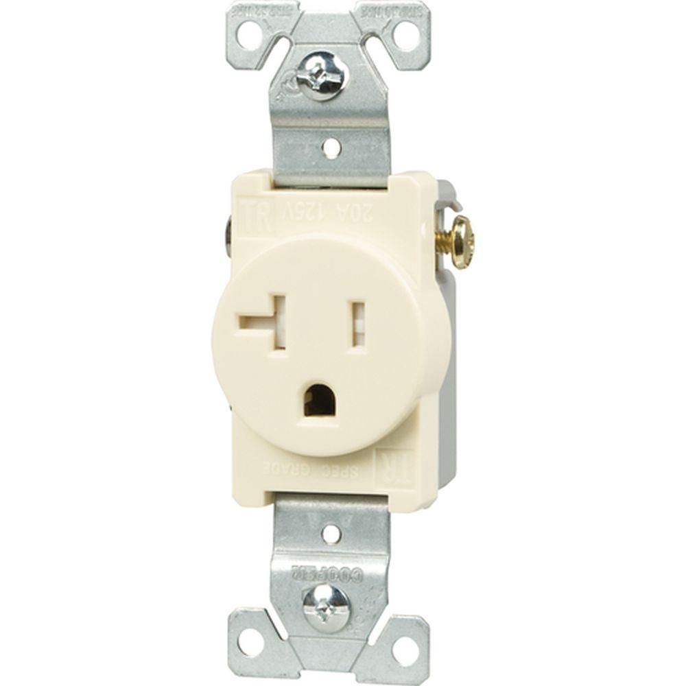 light receptacle wiring wiring light receptacle eaton 20 amp tamper resistant 2-pole single receptacle ...