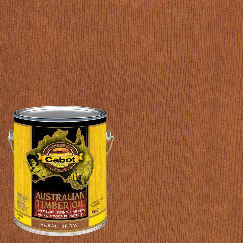 1 gal. Jarrah Brown Australian Timber Oil Exterior Wood Finish