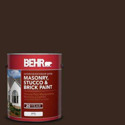 1 gal. #SC-105 Padre Brown Satin Interior/Exterior Masonry, Stucco and Brick Paint