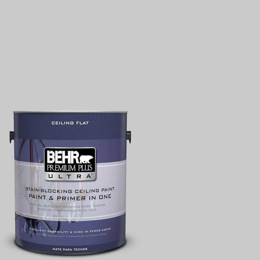 BEHR Premium Plus Ultra 1-Gal. No.UL260-17 Ceiling Tinted to Burnished Metal Interior Paint