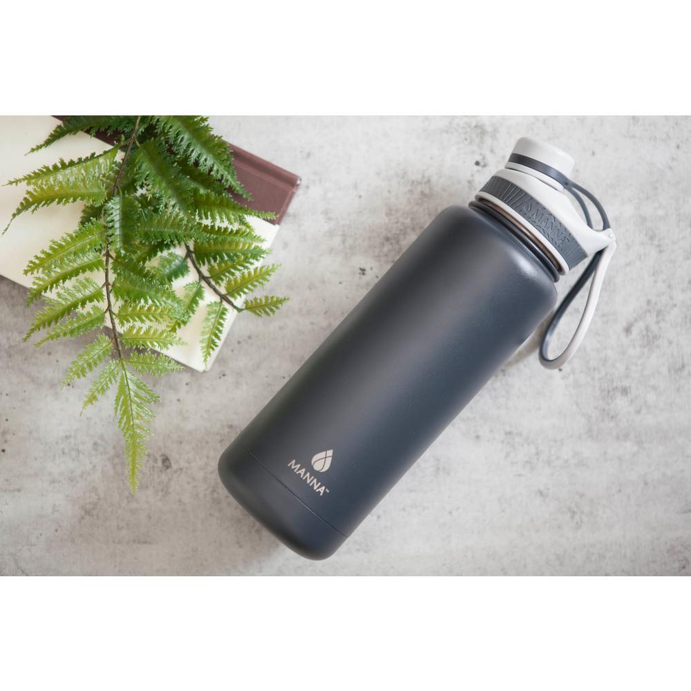 Ranger Pro 40 oz. Slate Powder Coated Stainless Steel Vacuum Bottle