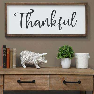 "15.00 in. x 40.00 in. ""Thankful"" Printed Wall Art"