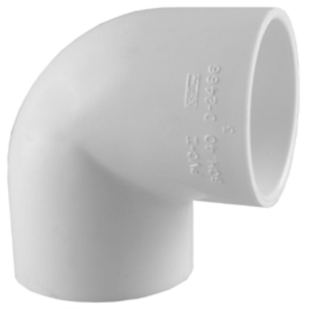 Charlotte Pipe 2 In. PVC Sch. 40 90 Degree S X S Elbow  2 1 Degree