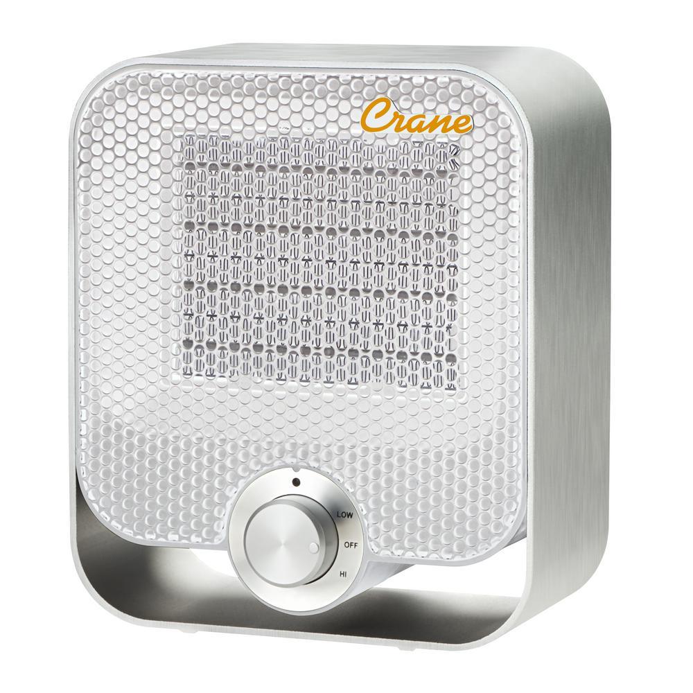 1,200-Watt Aluminum Ceramic Personal Heater - White