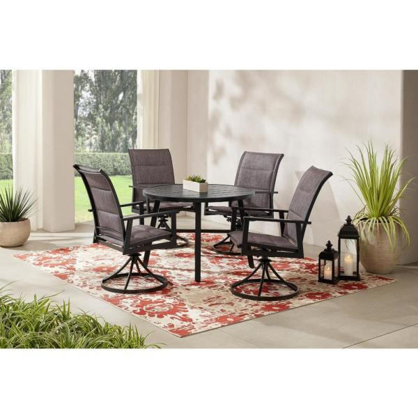 Hampton Bay High Garden 5 Piece Black