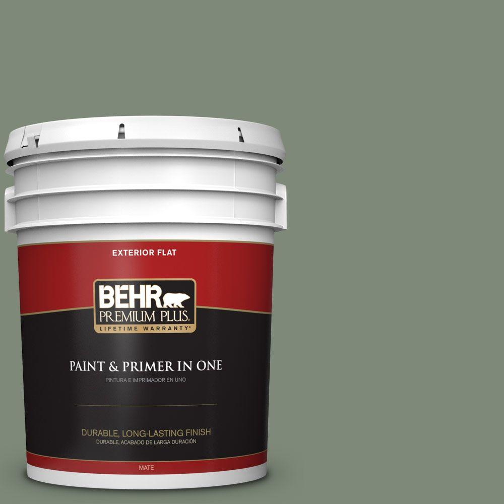 5-gal. #450F-5 Amazon Moss Flat Exterior Paint
