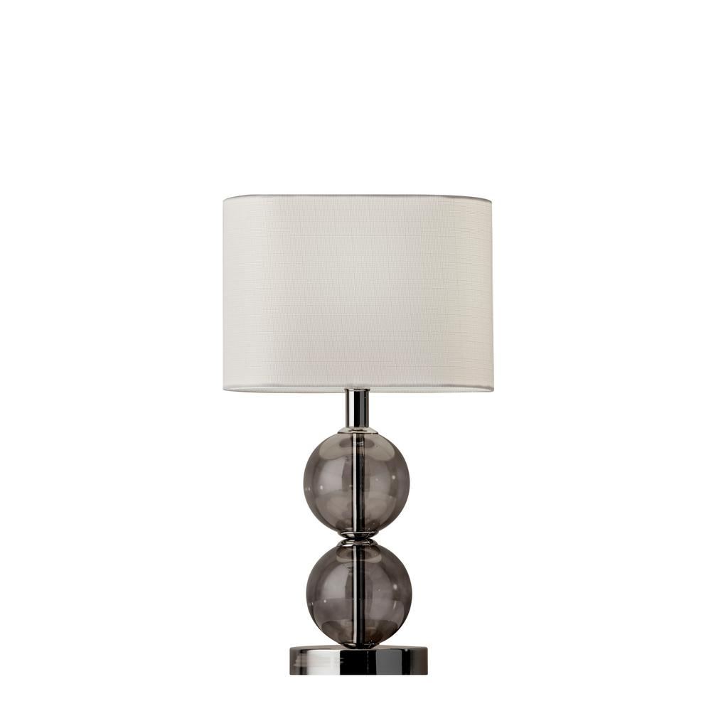 Donna 17.5 in. Nickel Table Lamp