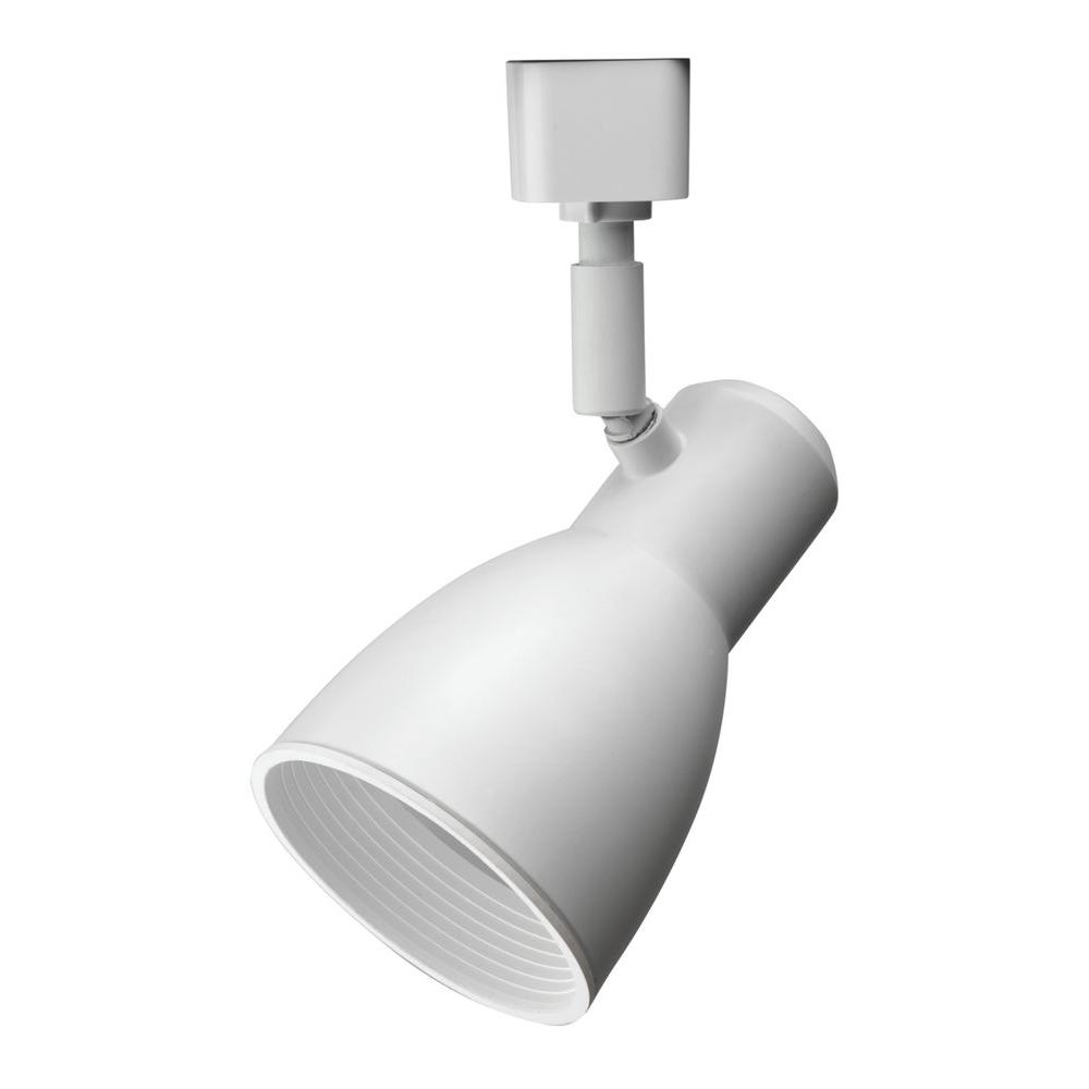 lighting fixture. Lithonia Lighting Baffle 1-Light White Track Fixture-LTHSTBF BR20 MW M4 - The Home Depot Fixture
