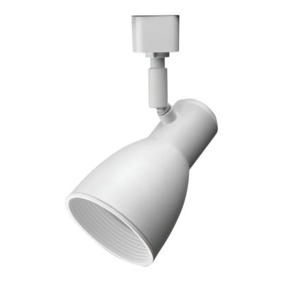Baffle 1-Light White Track Lighting Fixture