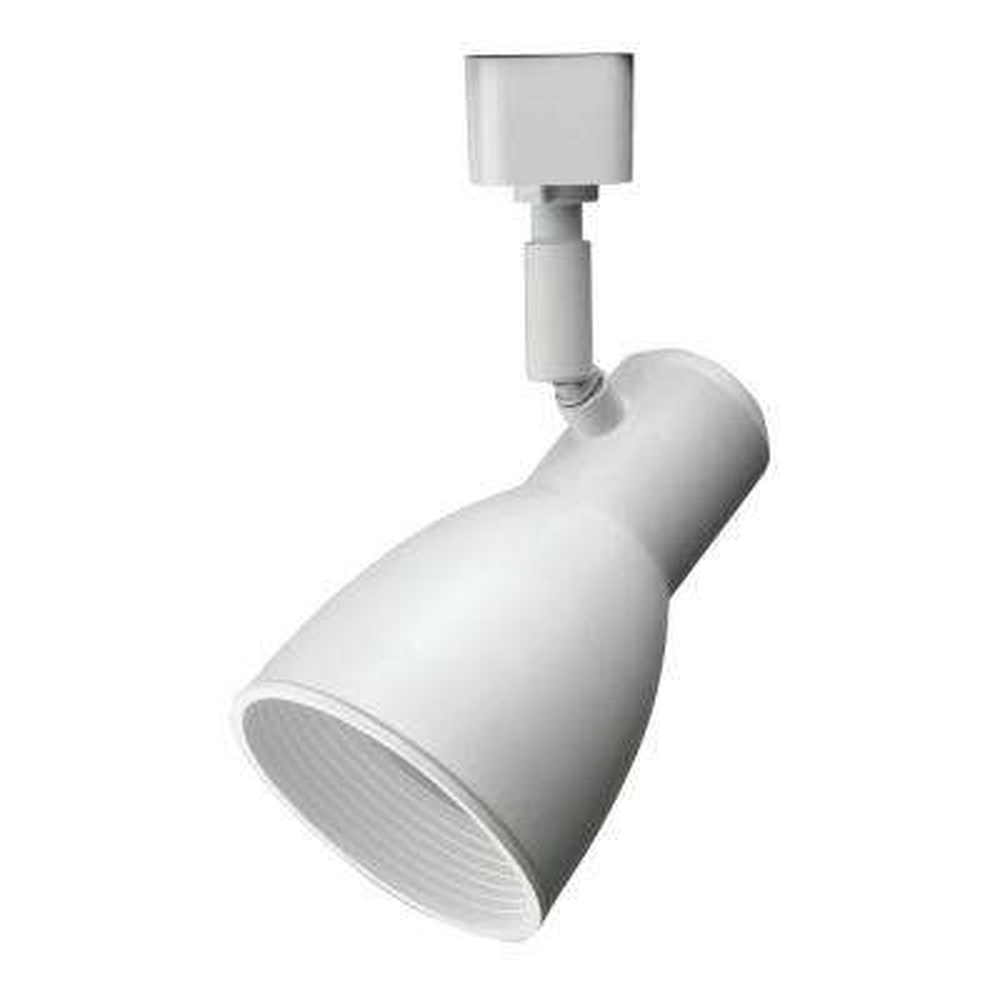 Baffle 1-Light White Track Lighting Fixture