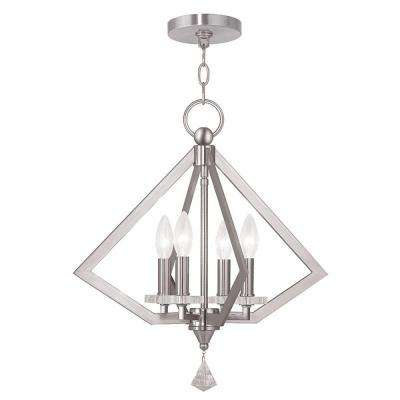 Diamond 4-Light Brushed Nickel Chandelier