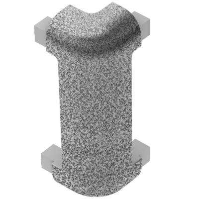 Rondec-CT Pewter Textured Color-Coated Aluminum 3/8 in. x 1-31/32 in. Metal 90° Outside Corner