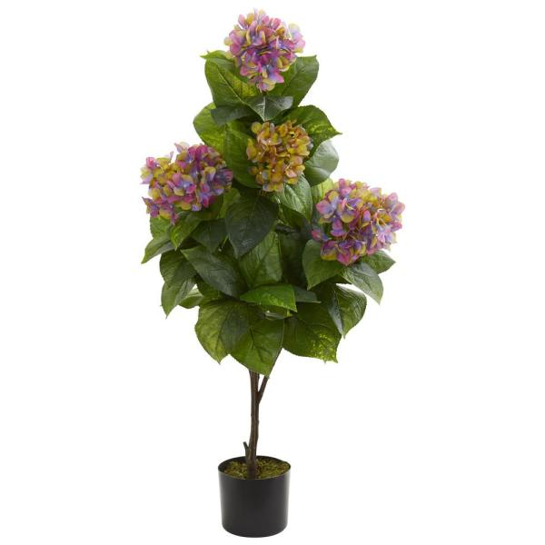Nearly Natural Indoor 45 in. Hydrangea Artificial Plant 8311