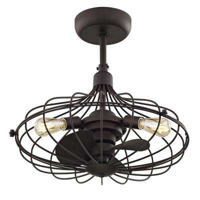 Havana 21 in. Aged Bronze Ceiling Fan with 3 Lights
