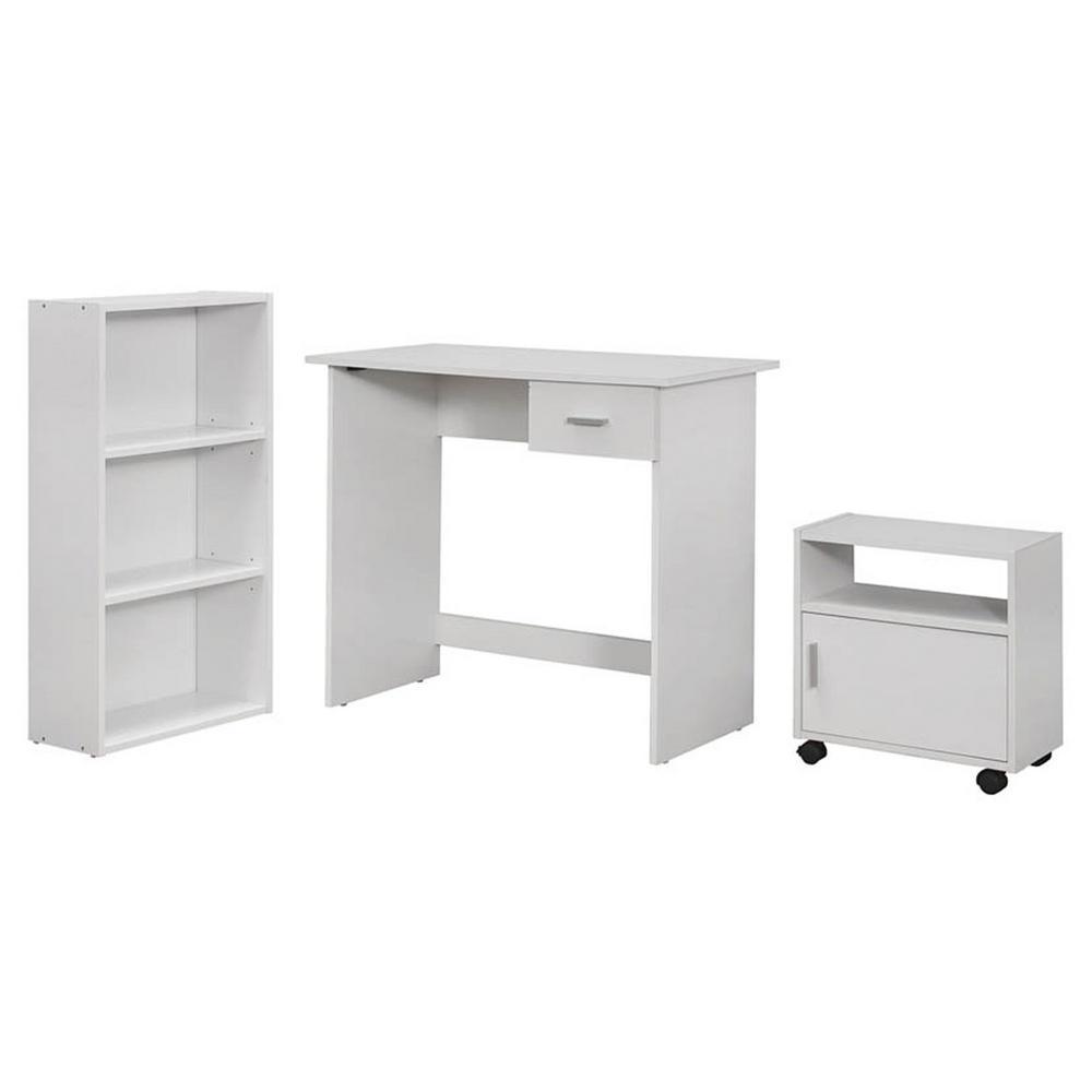 Jasmine 3-Piece White Computer Desk