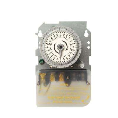 40-Amp 120-Volt SPST 24-Hour Mechanical Time Switch Mechanism Replacement for Metal Indoor/Outdoor Enclosure