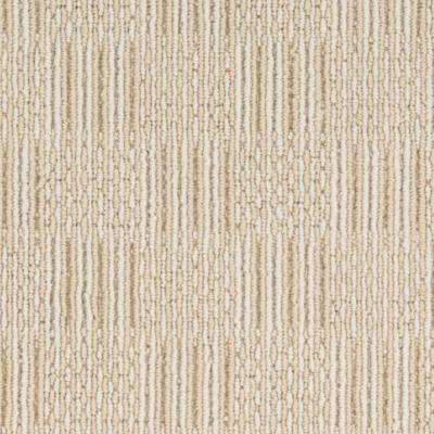 Carpet Sample - Upland Grid - Color Seashell Loop 8 in. x 8 in.