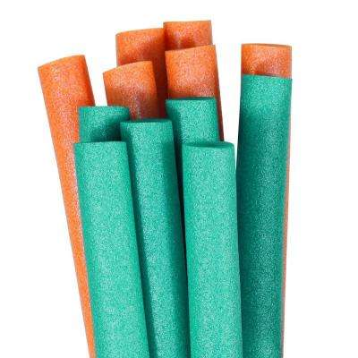 Teal and Orange Swimming Pool Water Noodles (12-Pack)