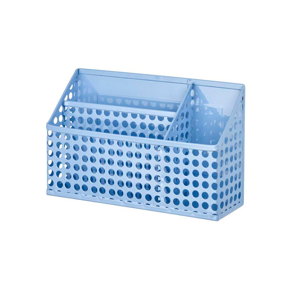 Edison Magnetic Divided Bin, Periwinkle