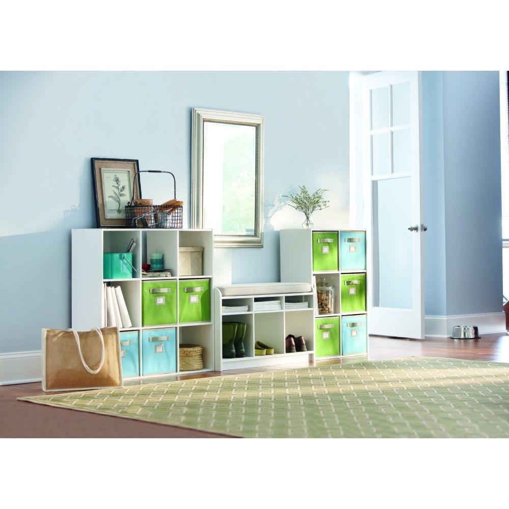 Martha Stewart Living White 3-Cubby Storage Bench