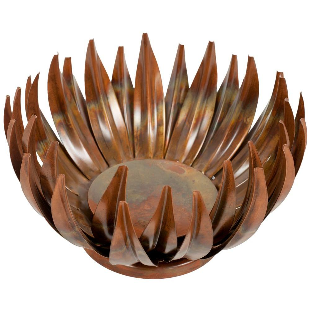 Safavieh Burnt Copper Small Lotus Pillar Candle Holder