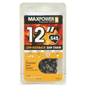 Maxpower 12 inch Replacement Chainsaw Chain by Maxpower