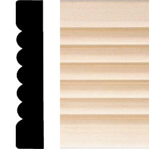 737 - 3/4 in x 4 in. x 7 ft. Basswood Ribbed Flute Casing Moulding