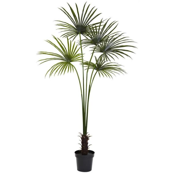 7 ft. UV Resistant Indoor/Outdoor Fan Palm Tree