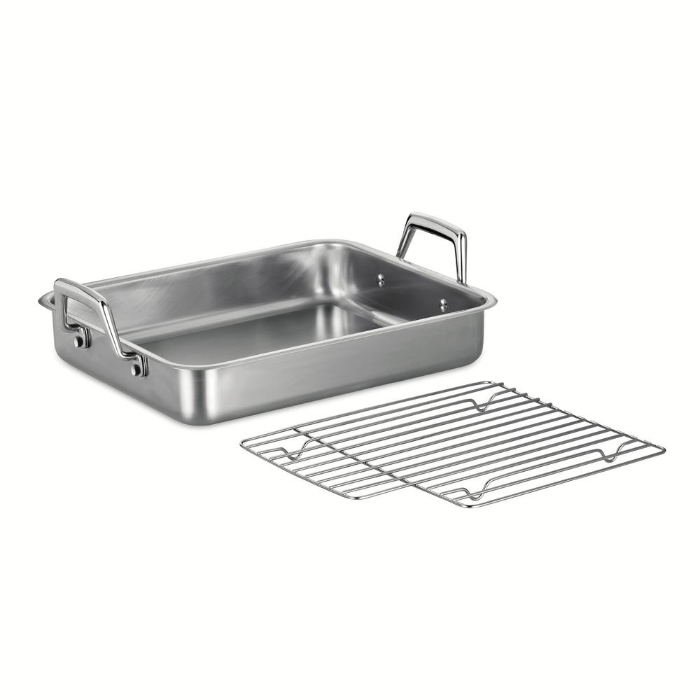 Tramontina Gourmet Prima 5 Qt. Stainless Steel Roasting Pan, Stainless Steel / Mirror-Polished was $59.99 now $32.99 (45.0% off)