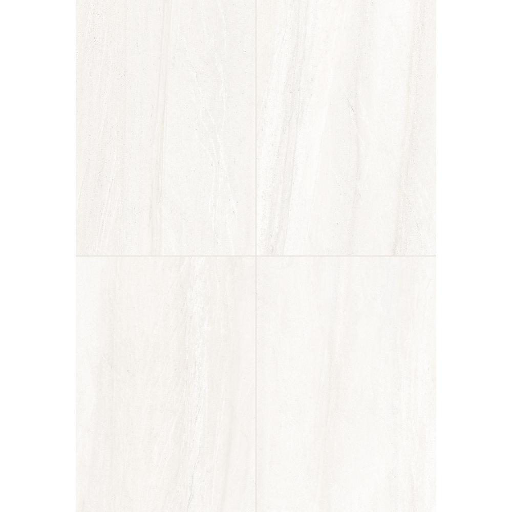 Fairfield White Matte 10 in. x 14 in. Glazed Ceramic Wall