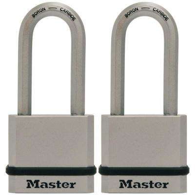 M530XTLH Magnum 2 in. Wide Laminated Steel Keyed Padlock with 2 in. Extra Long Shackle (2-Pack)