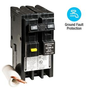 Square D Homeline 30 Amp 2-Pole GFCI Circuit Breaker by Square D