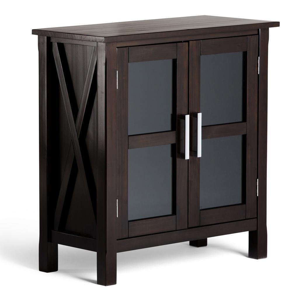 Kitchener Dark Walnut Brown Storage Cabinet