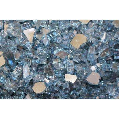 10 lbs. Bag Reflective Fire Pit Fire Glass in Sky Blue