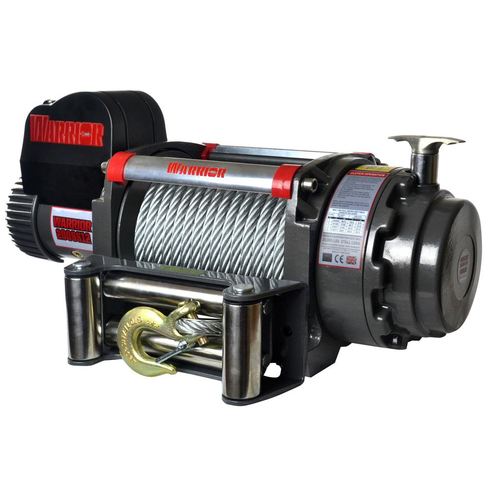 Samurai Series 20,000 lb. Capacity 12-Volt Electric Winch with 85 ft.