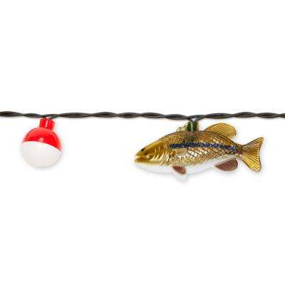 8 ft. 10-Light White Fish Novelty Incandescent String Light