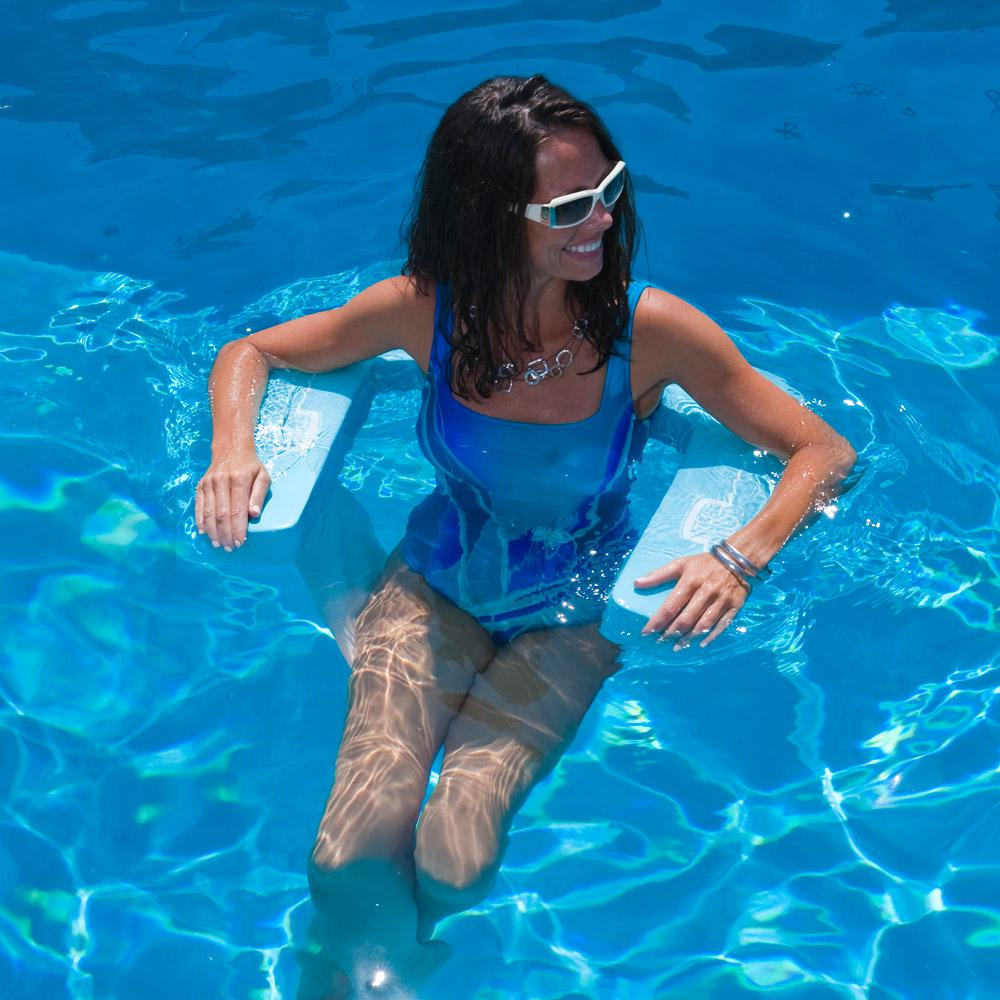 Suncliner Foam Aquamarine Pool Hammock-8200128 - The Home Depot