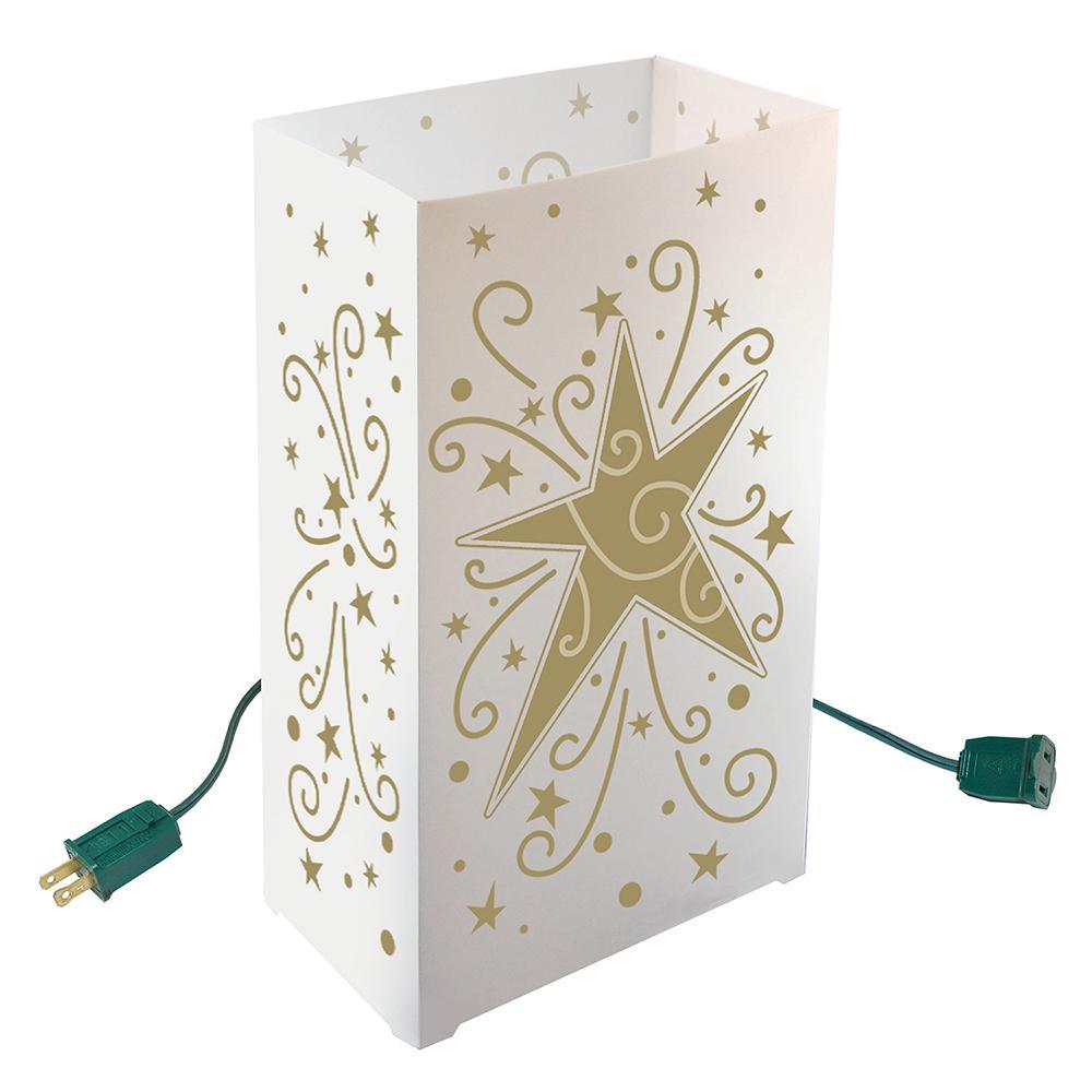100 Luminary Bags Christmas Holiday Decor Luminaria White Snowflake Design