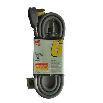 6 ft. 6/3 Extension Cord, Gray