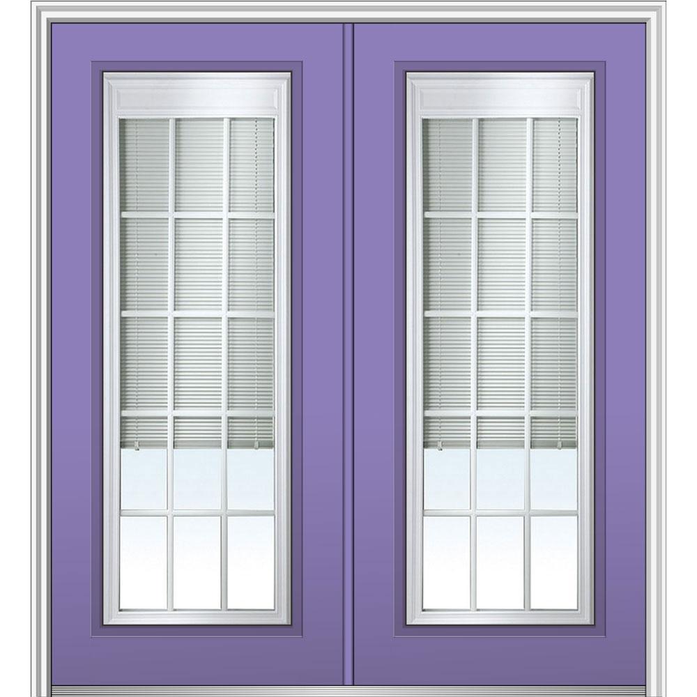 Mmi door 72 in x 80 in internal blinds and grilles right for 72 x 80 exterior door