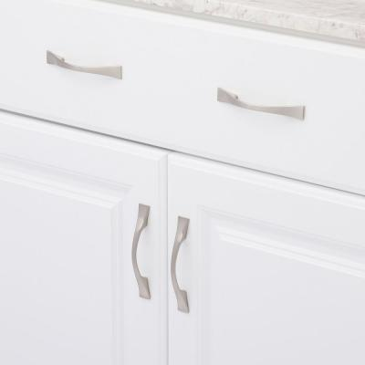 Contemporary 3 in. Satin Nickel Cabinet Center-to-Center Pull