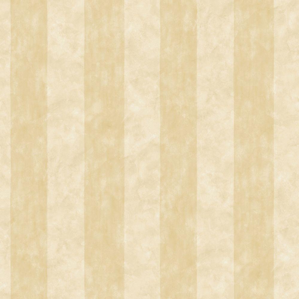 The Wallpaper Company 56 sq. ft. Beige Wash Stripe Wallpaper
